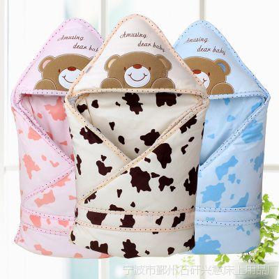 婴之友婴儿抱被新生儿纯棉包被宝宝抱毯可脱胆秋冬加厚加大抱被