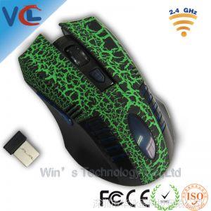供应***热销新 计算机硬件 2.4无线光电鼠标 裂纹纹身后置透光