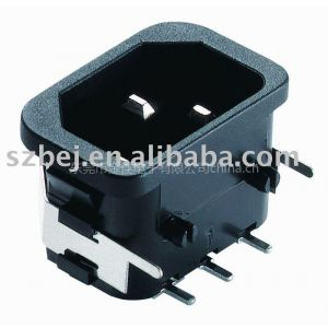 供应IEC C14 插座 广东生产厂家 VDE,UL认证