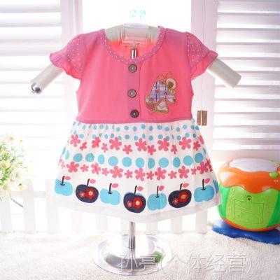 韩版童装夏季小袋鼠希瑞儿童公主连衣裙女童裙子儿童宝宝裙子6882