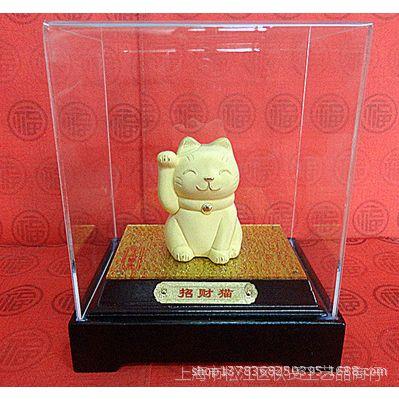 厂家直销电铸绒沙金工艺礼品摆件动物生肖系列Q-D111招财猫