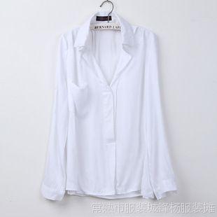 批发女装新款春装休闲女韩版白衬衫女女款衬衫长袖  047