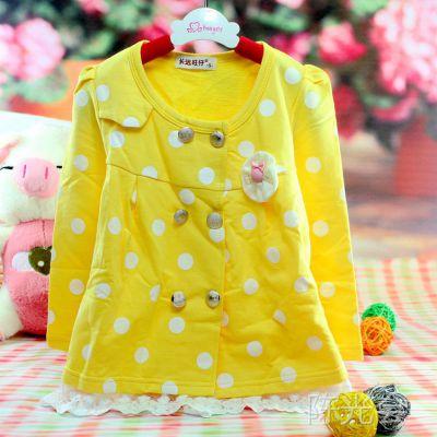 厂家直销女童外套 新款长远旺仔秋冬品牌童装 韩版宝宝风衣外套