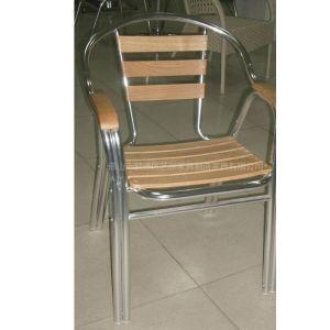 艺派家具铝木休闲家具 成套桌椅 酒店椅 水曲柳木椅 铝木餐椅户外椅阳台椅咖啡椅子