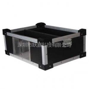 供应深圳供应防静电中空板箱 铝合金加固塑料箱