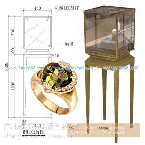 供应珠宝展柜 不锈钢电镀仿古铜色珠宝展示柜 广州珠宝展柜厂家