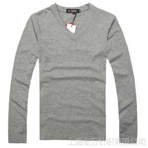 供应一件代发男装秋冬新品男士纯棉打底衫时尚韩版男式长袖T恤潮批发