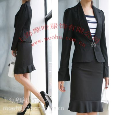 韩版女套装,上海女职业装定制,时尚女套装/西服,女西服订做