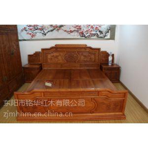 供应床缅甸花梨木大床福建仙游红木家具厂红木家具红木大床三件套红木家具供应商红木的种类明清家具