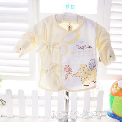 童丽安新生儿纯棉内衣打底衣偏襟偏衫和尚服婴儿内衣特价热销2005