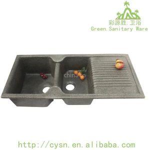 供应佛山高质国产花岗岩带翼水槽---不渗油及渗色,易打理.厨房的水槽