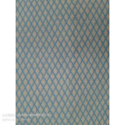 供应22目菱形印花交叉水刺无纺布家庭卫生用品百洁布