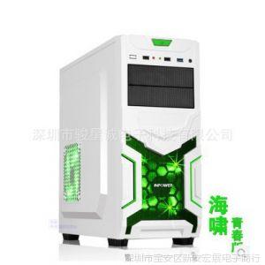 供应赢派 海啸白 游戏机箱 原生USB3.0 下置电源 背板走线 免螺丝工具