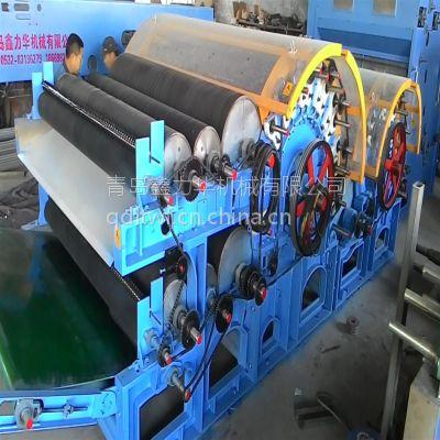 供应高产高速鑫力华XLH185双锡林双道夫梳理机