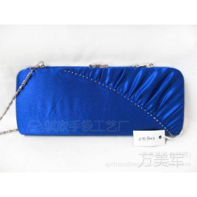 缎面褶皱钉珠晚宴包 定型包 晚装包 手拿包 手袋 女包QX09004系列