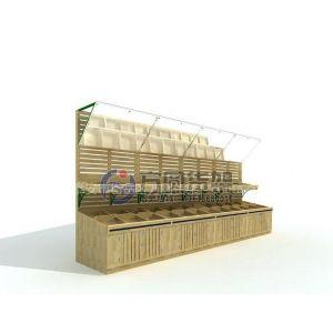 供应超市果蔬架 木质蔬果架