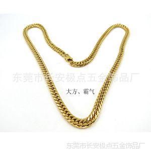 供应不锈钢饰品1.5*6.8磨圆边电金项链(绿色环保对皮肤无任何伤害)