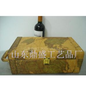 供应PU皮红酒礼盒高档带酒具红酒皮盒木盒定做批发高档红酒皮盒