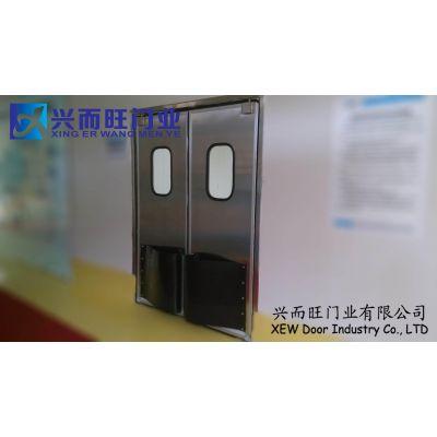 供应沧州不锈钢自由防撞门 兴而旺门业安装订做专业快速