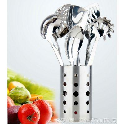 厨房用具 不锈钢厨具七件套 锅铲套装铲子厨具套装 韩国厨具批发