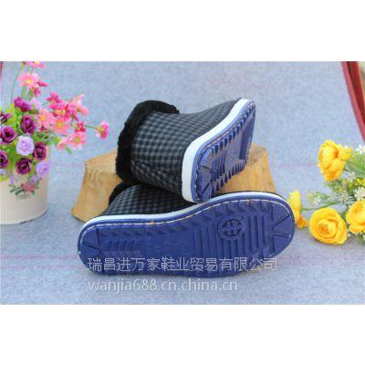 江西瑞昌进万家鞋业贸易供应中老年保暖棉鞋男女棉鞋蓝色牛筋底棉鞋洪城大市场专供批发棉鞋