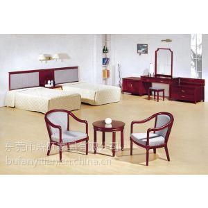 供应东莞快捷酒店家具床 衣柜 书桌 梳妆台板式家具