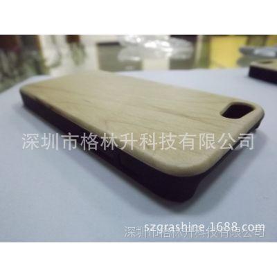厂家直销苹果新款手机壳 5c pc贴木壳 iphone 5c环保竹木保护壳
