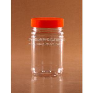 供应益群F2002食品瓶,透明塑料蜂蜜瓶 118x75mm尺寸干果食品包装瓶