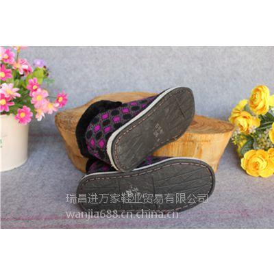 新款流行女鞋男鞋居家休闲低跟冬季保暖棉鞋短筒棉鞋轮胎底