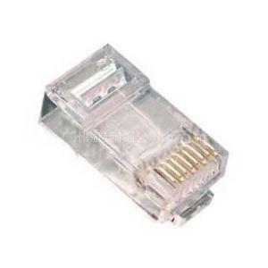 供应安普554720-3超五类非屏蔽水晶头/镀金纯铜精品安普水晶头