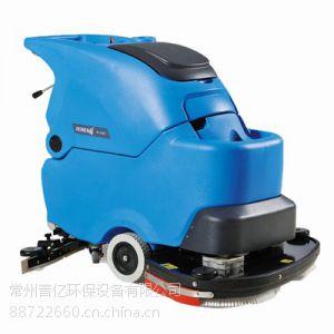 供应无锡镇空工厂用容恩洗地机R85BT 电瓶式车间地面清洗机 全自动洗地擦地机