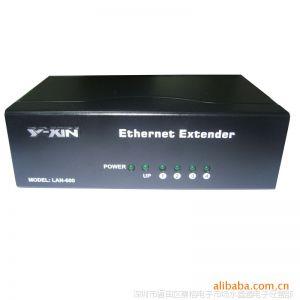 供应厂家直销,网络设备五端口外置电源网络延伸器300米