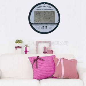 供应多功能显示世界时钟 数字显示 电子时钟 挂钟