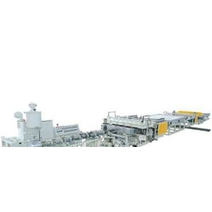 供应PC、PP、PE、PVC中空格子板挤出生产线