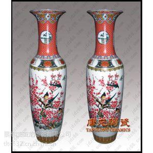 供应花开富贵麦秆画陶瓷大花瓶 开业庆典装饰花瓶 景德镇千火陶瓷
