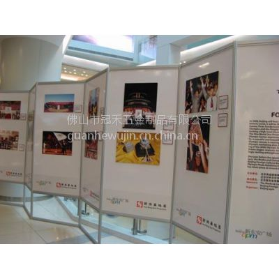 供应批发供应展览屏风展示架 铝合金折叠屏风展示架 八棱柱书画展架