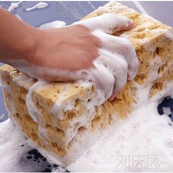 中号珊瑚海绵 蜂窝抗磨洗车海绵 擦车清洁海绵 优质耐用 洗车工具