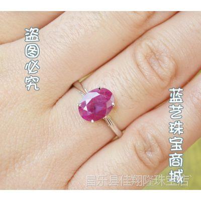 正品 天然缅甸红宝石925银戒指 指环 饰品直销批发 承接订单