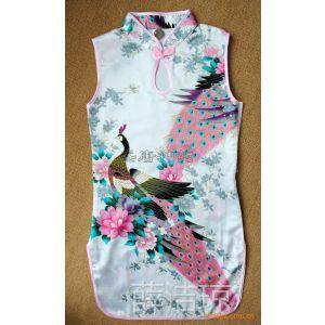供应北京厂家直供孔雀图案 儿童睡裙  旗袍唐装 连衣裙 多种花色