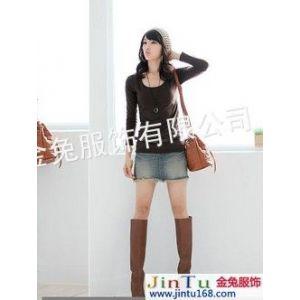 供应东营服装2012***热销海口女式打底衫时尚服装超便宜牛仔裤长裤