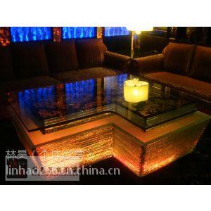 供应ktv茶几 发光玻璃异形茶几 酒吧吧台 LED渐变灯 钢化玻璃