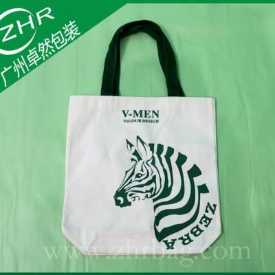 广州厂家供应定做潮流服装品牌出口精美印刷全棉帆布包装袋
