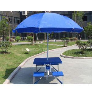 供应户外移动式折叠桌椅、户外促销折叠桌椅、联体式折叠桌椅