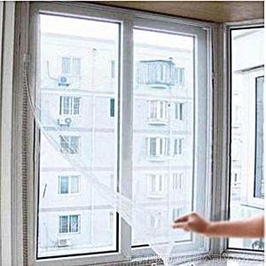 供应自粘型防蚊纱窗/隐形纱窗门帘/非磁性沙窗 简装