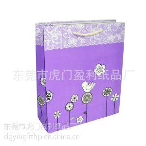 供应厂家长期供应大量时尚环保蕾丝花边礼品手提纸袋 批发