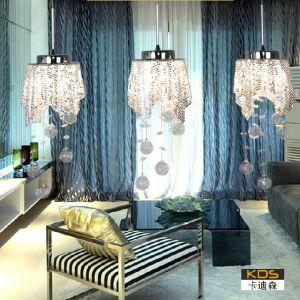 供应欧式风格吊灯 水母 现代简约灯饰客厅餐厅卧室水晶吊灯 古镇灯饰品牌【卡迪森】