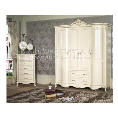 样板房定制衣柜,欧式衣柜,4门衣柜,实木衣柜,厂家热卖