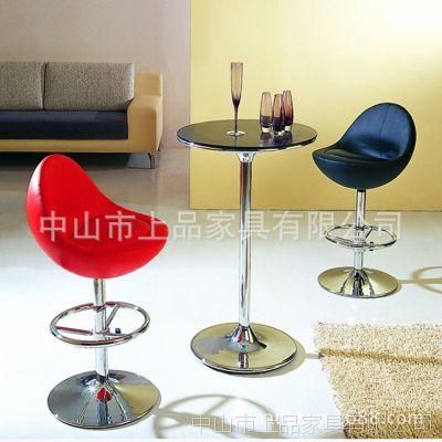 上海哪家酒吧桌椅好?上品家具厂家为您推荐欧式【SP-HBC371】舒适软包休闲皮吧椅酒吧高脚桌椅