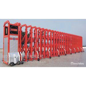 供应哈尔滨红门13945145785安装、维修|伸缩门售后服务
