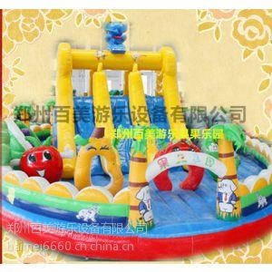供应2014年全新果果乐园充气跳跳床 厂家推荐新款充气玩具